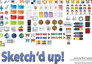 Sketch'd up! - Free vector #139243