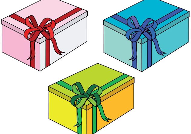 Gift Boxes - Free vector #139253