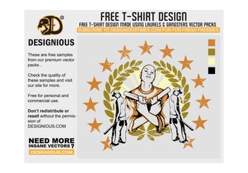 Gangsta T-Shirt Design - Free vector #139313