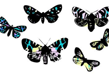 Stained Glass Butterflies by LVF - бесплатный vector #139393