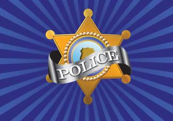 Vector Police Badge - vector gratuit #139563
