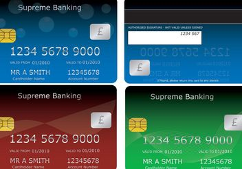 Bank Cards - vector gratuit #139603
