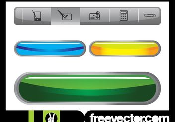 Website Navigation And Buttons - Free vector #139733