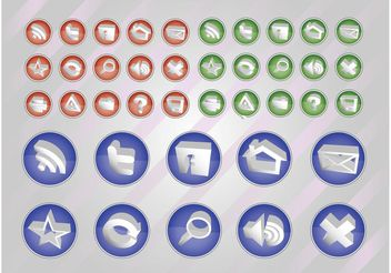 Web Vectors Button Pack - vector gratuit #139773