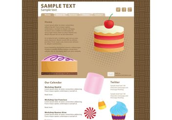 Food Blog Vector Template 2 - vector #139803 gratis