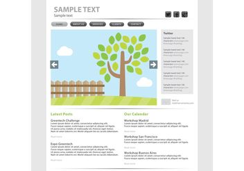 Eco Web Page Vector Template - Kostenloses vector #139823
