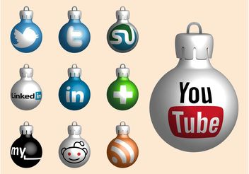 Website Christmas Balls - vector gratuit #139873