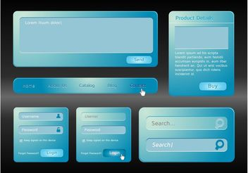 Blue Website Interface - vector gratuit #139883