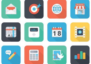 Free Flat App Vector Icons For Mobile And Web - Free vector #139893