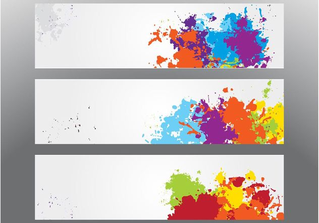 Colorful Splatter Banners - Free vector #139913