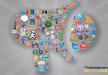 Social Communication - vector #139923 gratis