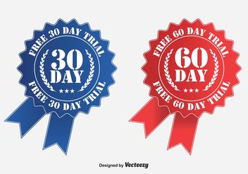 Free Trial Ribbon Badges - Free vector #139933