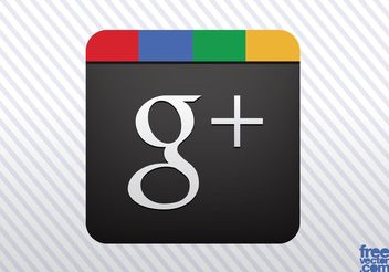 Google Plus Vector Icon - Free vector #140003