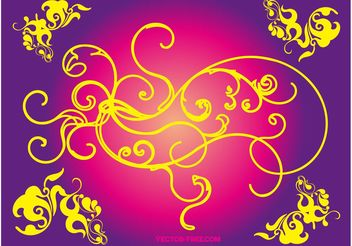 Floral Vector Swirls - Free vector #140013