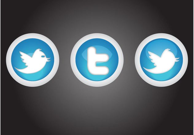 Twitter Buttons - Free vector #140023