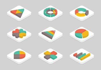 Free Flat Isometric Graphics vector Icon Set - Free vector #140043