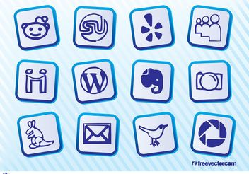 Social Media Icon Pack - vector gratuit #140103