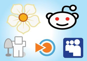 Social Media Icons Set - vector gratuit #140143
