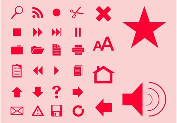 Interface Symbols - vector gratuit #140233