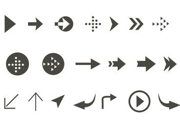 Free Vector Arrow Aign Icon Set - бесплатный vector #140293