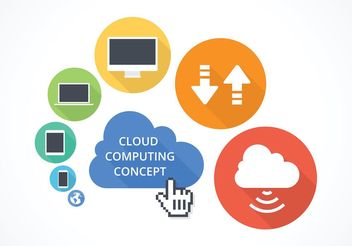 Free Vector Cloud Computing Concept - Kostenloses vector #140303