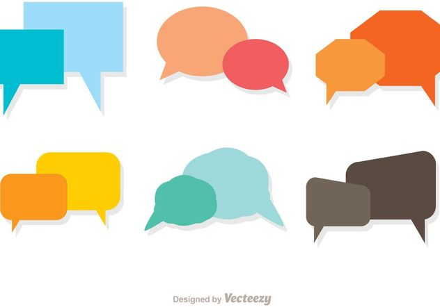 Colorful Live Chat Icons Vector Pack - бесплатный vector #140313