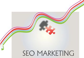 SEO Marketing Logo Vector Background - vector #140363 gratis