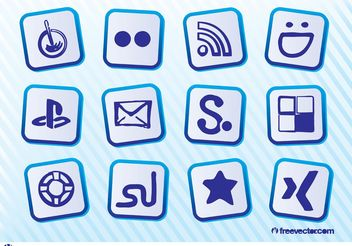 Free Social Icons - Kostenloses vector #140423