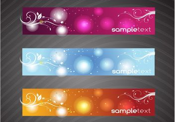 Floral Swirls Banners - Kostenloses vector #140483
