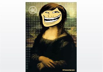 Troll Face Girl Vector - Free vector #140513