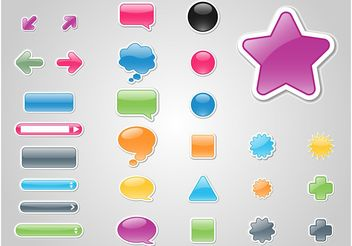 Buttons Vectors - Free vector #140543