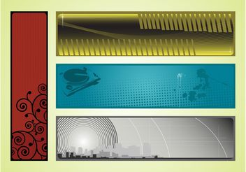 Banners Graphics - vector gratuit #140633