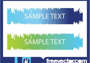 Stained Banners - vector gratuit #140643