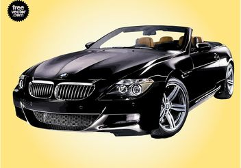 Black BMW - vector #140703 gratis