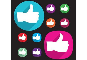 Like Facebook Vectors - Free vector #140723