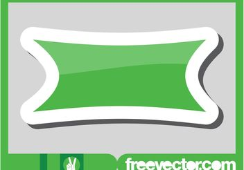 Green Banner Sticker - Free vector #140733