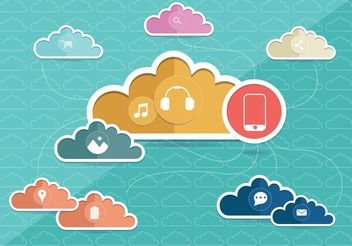 Cloud Computing Concept Vector - бесплатный vector #140753