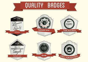 Free Vector Badge Set 2 - Kostenloses vector #140773
