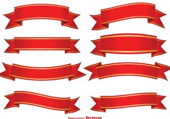 Red Decorative Banners - vector gratuit #140793