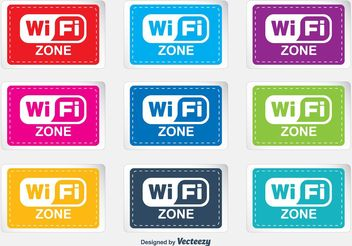 WiFi Zone Labels - vector #140803 gratis
