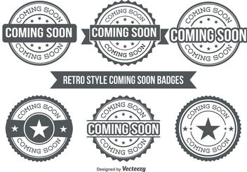 Coming Soon Badges - vector gratuit #140843