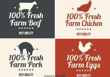 Farm Product Labels - vector gratuit #140933