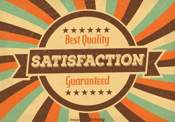Satisfaction Guaranteed Illustration - Free vector #140943