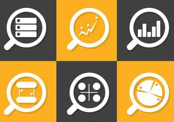 Big Data Icons Vector Pack - vector gratuit #141073