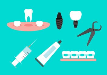 Dental icons - vector #141113 gratis
