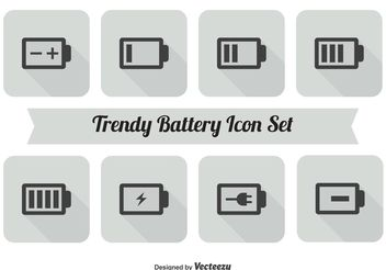 Battery Icon Set - vector gratuit #141123