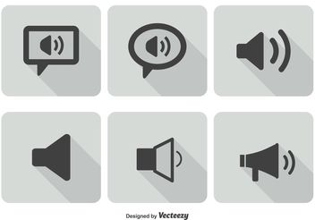 Sound Icon Set - vector gratuit #141153