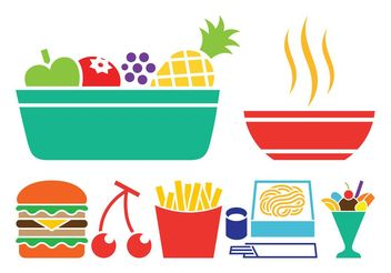 Food Icon Set - vector #141173 gratis
