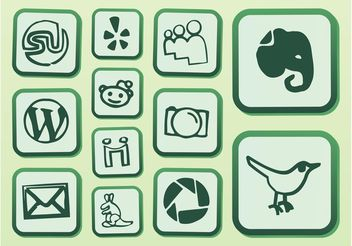 Vector Website Icons - Free vector #141203