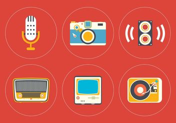 Vintage Icon Vector Set - vector gratuit #141233